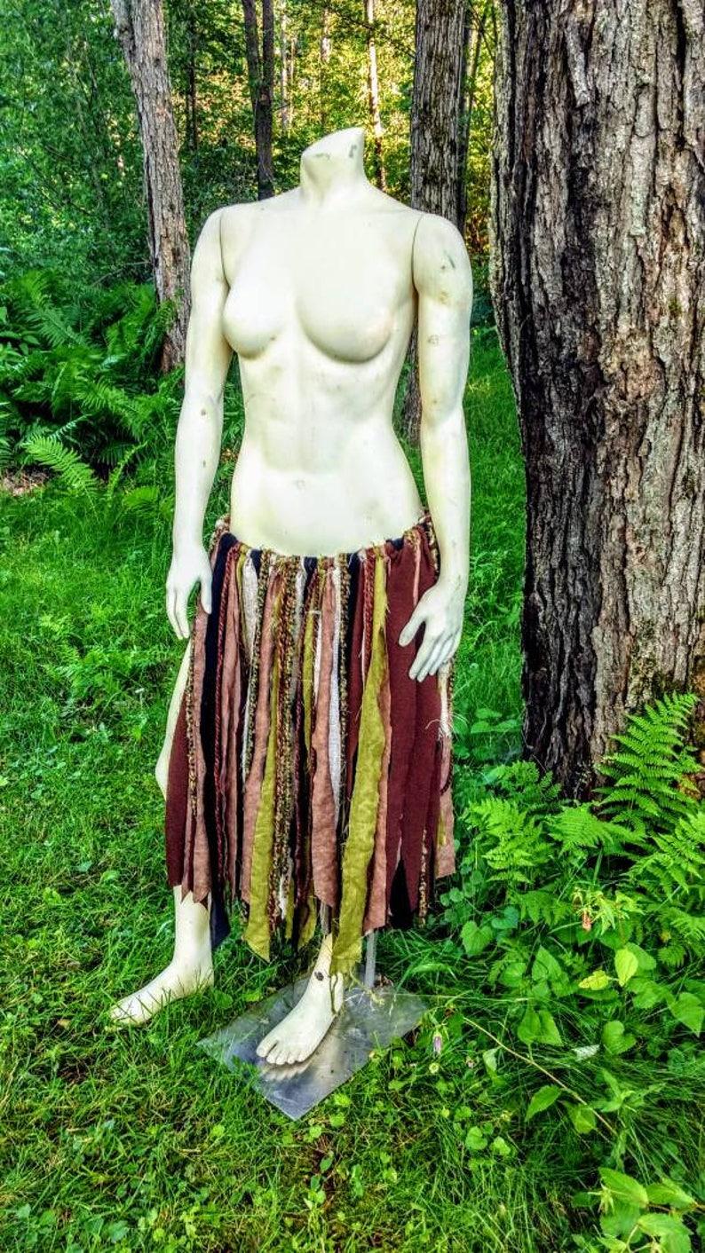 Tattered Skirt Burning Man Gypsy Skirt Bohemian Unisex Rag Skirt Apocalyptic Loin Cloth Boho Festival Wear