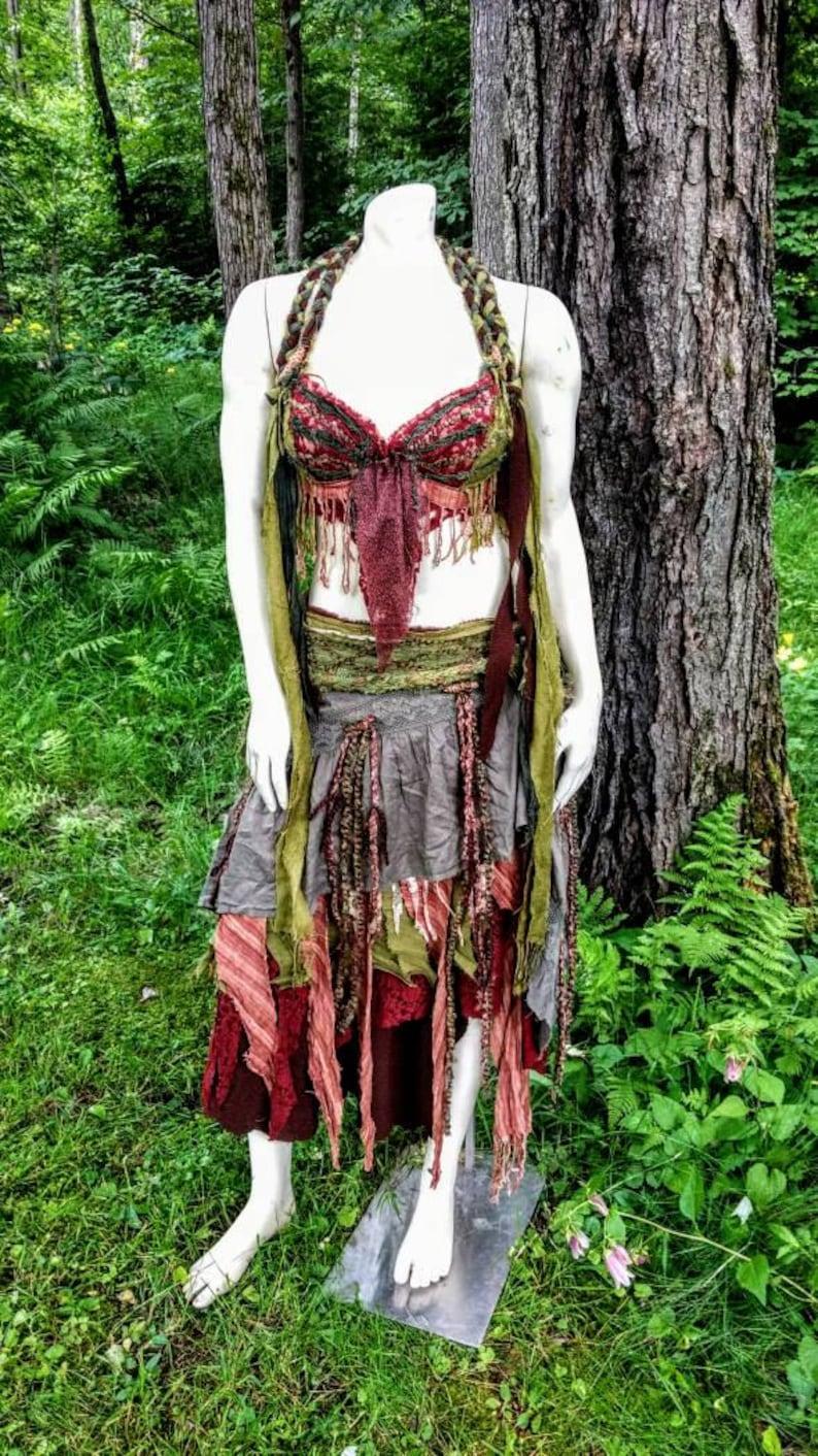 Woodland Costume, Festival Wear, Burning Man, Gypsy, Belly Dancing, Elf,  Fairy, Bohemian, Boho, OOAK, Larp Costume, Game of Thrones
