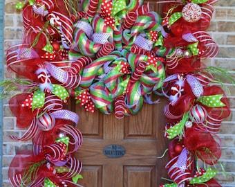 Front Door Christmas Garland 20 Feet   Example Only