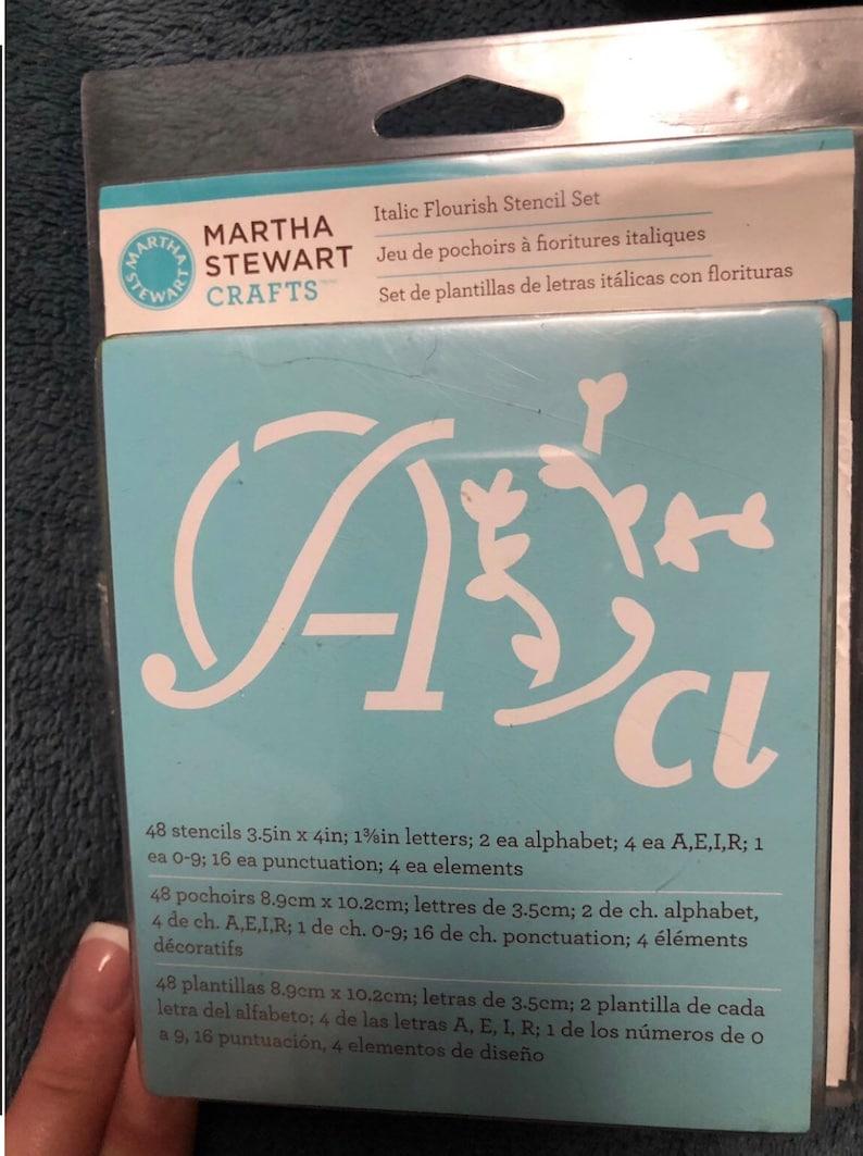 Italic Martha Stewart Stencil Letters and Symbols