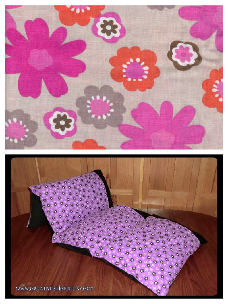 Nap Mat Girl Pillow Bed Pillow Mattress Personalized Bright Floral Pillow Bed Sleepover Bed Children/'s Pillow Bed