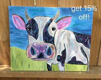 Cow Painting- Handmade