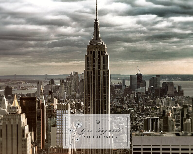 new york cityscape wall art New York Photography Sleepless Empire State Building new york gift living room decor 11x14 architecture