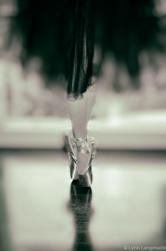 Schwarz-weiß-Fotografie Ballerina de Pointe   Etsy