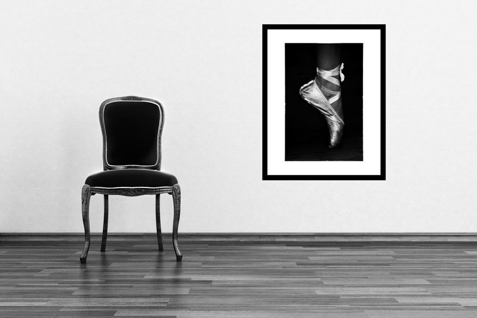ballet photography - ballerina en pointe, black and white photography, ballet, dance, ballet wall prints, ballet wall art - &quo