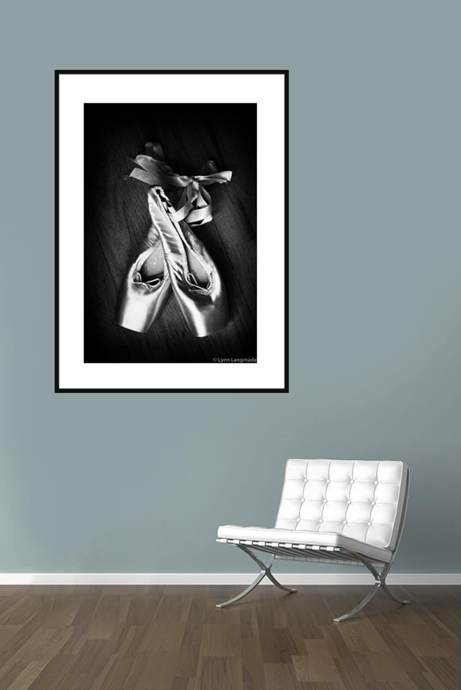 ballet art - pointe shoes black white 8x10 prints 11x14 large art 16x20 ballet prints ballerina dance photography