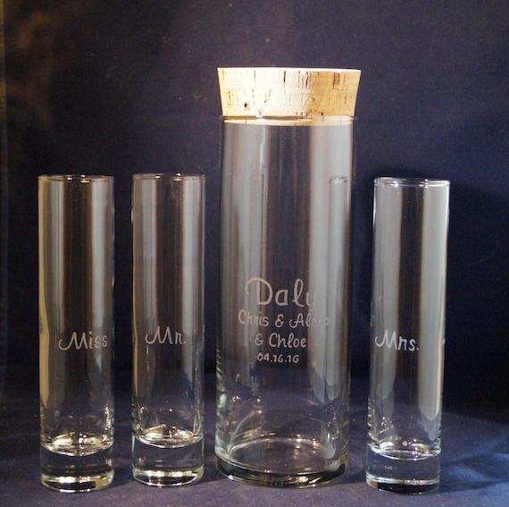 4 Piece Unity Sand Ceremony Set With 9 X 3 Vase Cork Lid Etsy