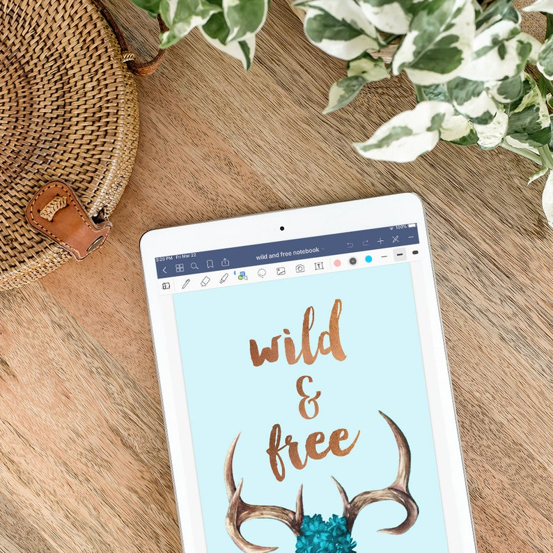 Wild & Free Digital Notebook for GoodNotes