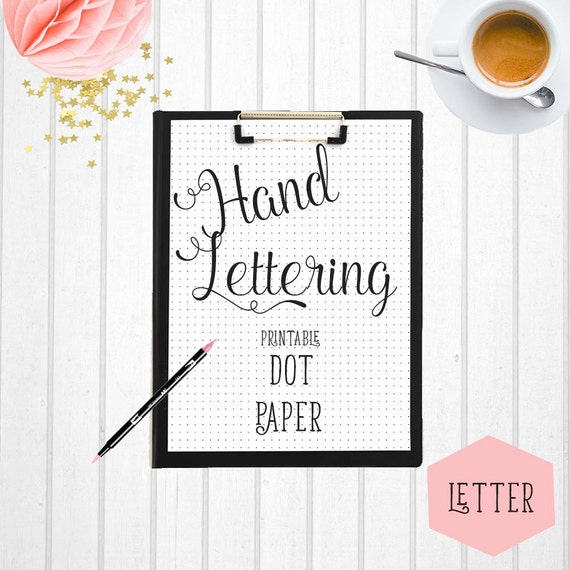 Hand Lettering Practice Paper Printable Hand Lettering Paper | Etsy