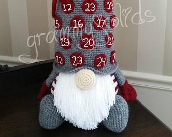Gnome Countdown Pillow pattern
