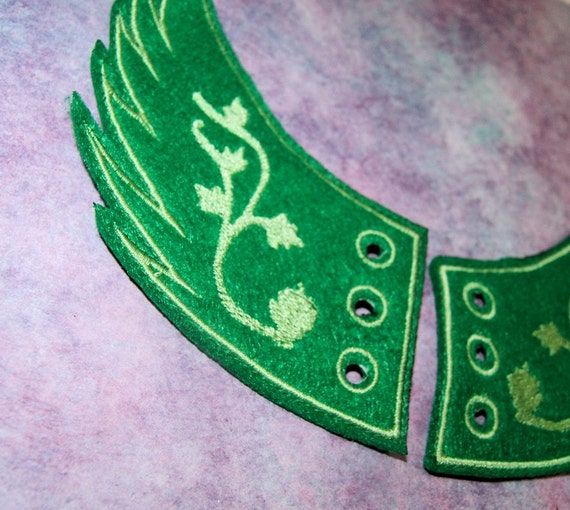 Iron On// Sew On Embroidered Patch Badge Poison Ivy Cross Bones
