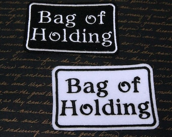 Bag of Holding Geeky Iron On Embroidery Patch MTCoffinz - Choose Color