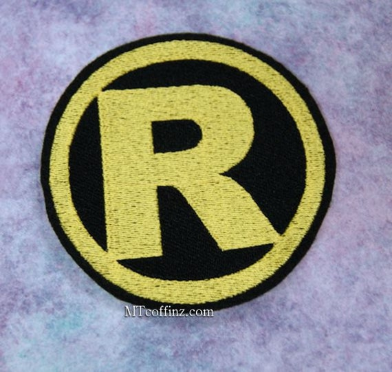 Classic Retro Robin Logo Sidekick Iron On Embroidery Patch Etsy