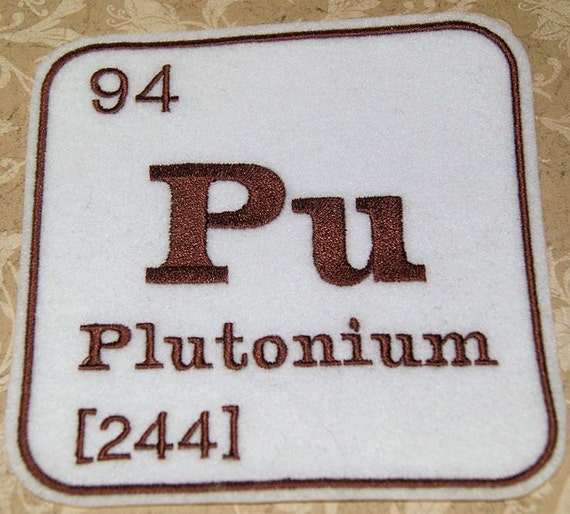 Pu Plutonium Periodic Table Iron On Embroidery Patch Mtcoffinz Etsy