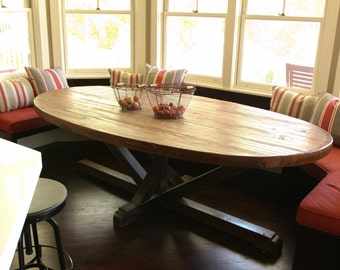 Pleasing Oval Dining Table Etsy Cjindustries Chair Design For Home Cjindustriesco