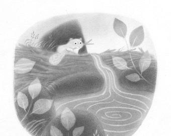 Beaver Dam - Original drawing