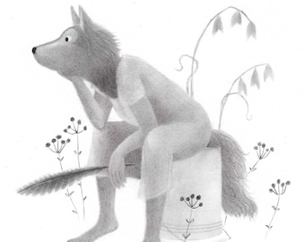 Wolf Woman - Original drawing
