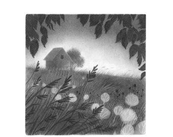 Dusky Meadow - 5x5 print