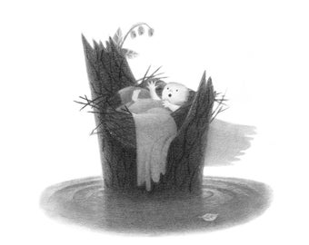 Baby in Nest - 5x5 print