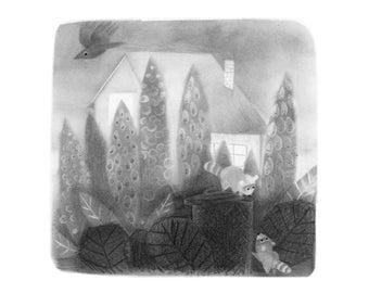 Back Alley - 5x5 print