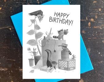 Trashpicker's Party Birthday Notecard