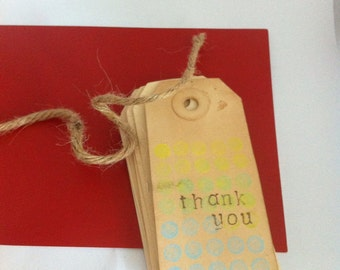 Thank You- Polk-a-Dots - gift tags (set of 6)