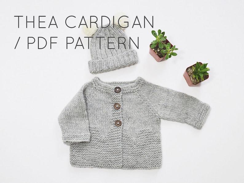 09f81ff50 Thea Cardigan PDF Download    Baby Cardigan Sweater Knitting
