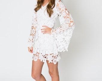 Bohemian GownBell Sleeve LaceEtsy Wedding Vintage Inspired OkPXZiu