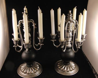 Vintage metal candle holders (2 candle holders)