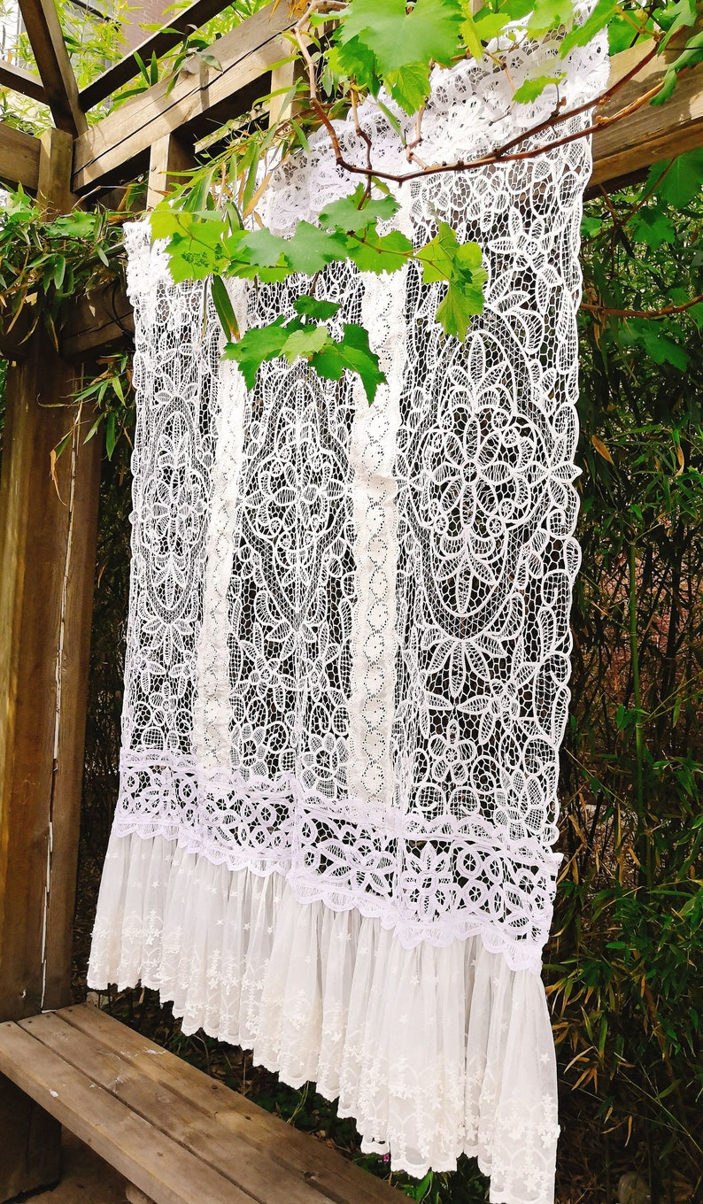Curtains Window Treatments Custom French Country Style Curtain Victorian Rustic Wedding Decoration Vintage Battenburg Lace Panel White Gorgeous Chic Home Living