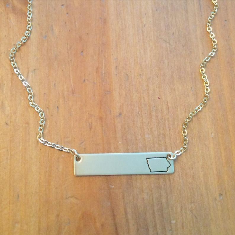 state jewelry california Louisiana Iowa personalized gift washington name plate georgia State bar necklace bridesmaid gift