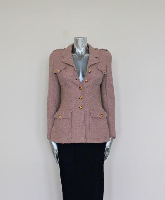 BEIGE CHANEL MILITARY Jacket, Beige Chanel Boucle