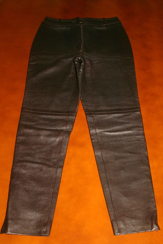 CHANEL LEATHER TROUSERS