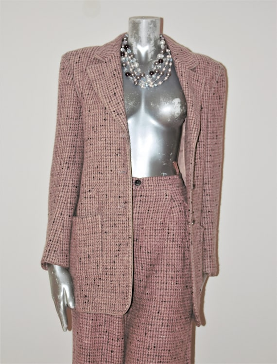 CHANEL TWEED SUIT, Chanel Tweed Trouser Suit, Salm