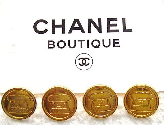 CHANEL GOLD BUTTONS Set Of Four Large Buttons