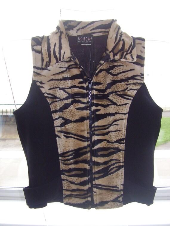 MORGAN WAISTCOAT,Animal Print WaistCoat,Tiger Prin