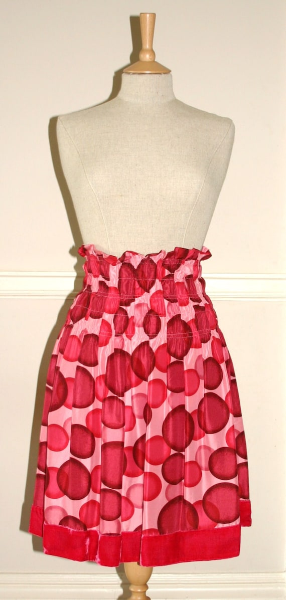 POLKA DOT SKIRT....Dirndl Skirt, A line Skirt