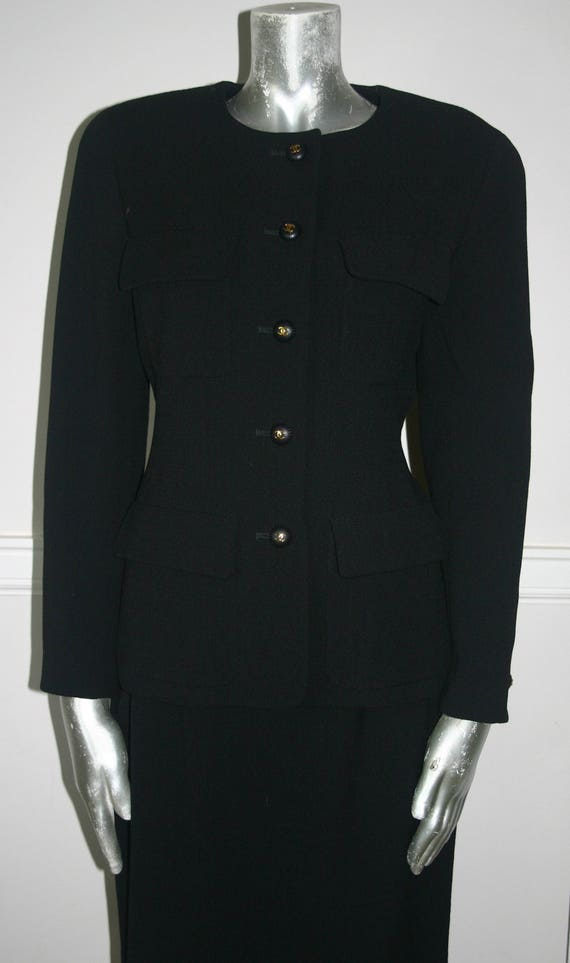 BLACK CHANEL SUIT,New Condition  Black Chanel Suit