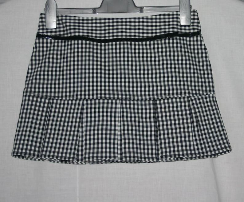 Pleated Mini Tennis Skirt Black And White Gingham Pleated Skirt,Gingham Tennis Skirt