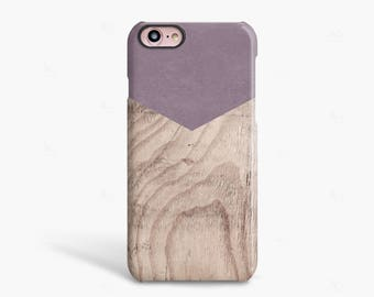 iPhone 8 Case Purple iPhone 7 Case Wood Gift for Her Wood iPhone 6S Case Wood Wood Samsung Galaxy S6 Case Wood Print NOT Real Wood