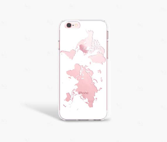 Travel gift iphone 8 case wanderlust gift world map phone etsy image 0 gumiabroncs Images