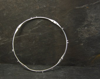 Artisan Dots Bangle // Eco Sterling Silver