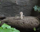 Double Spiral Ring Soldered Choose Size 18 gauge or 16 gauge wire