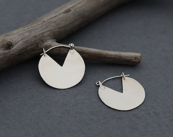 PASS THE FLAME  Fire Torch Earrings in Eco Sterling silver and 9ct Gold or Brass