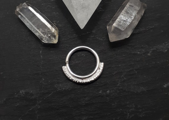 18g 16g 14g G O L D M E R I D I A N  Solid Recycled 9ct Gold and Eco Silver 925 Piercing Hoop  20g S I L V E R