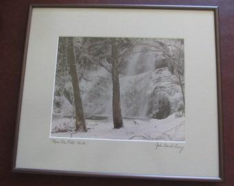 Free Shipping - John David Geery, Vermont Photographer, Moss Glen Falls: Winter, Granville, VT, New England Photo, Green Mountains