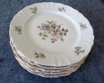 Six Dinner Plates, Empress Maria Theresia, Winterling, Bavaria, Germany, Vintage