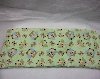 Flax Heating Pack, Arthritis Heating Pack, Neck Pain Relief, Small Owls Collage, Flannel Warming Neck Wrap, Therapy Bag,