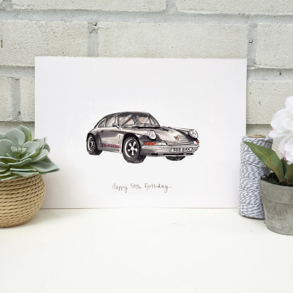 Personalised Classic Car Print Hand Drawn Print Made To Etsy