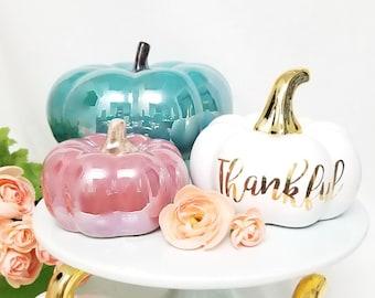 Ceramic Pumpkin Decor - Fall Home Decor, Fall Pumpkin, Pumpkin Decor, Ceramic Pumpkin, Fall Decor, Autumn Decor, Home Decor, Thanksgiving